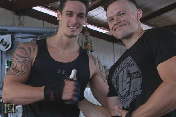 Bodybuilding : deux amis s'entrainent pour leur premier concours