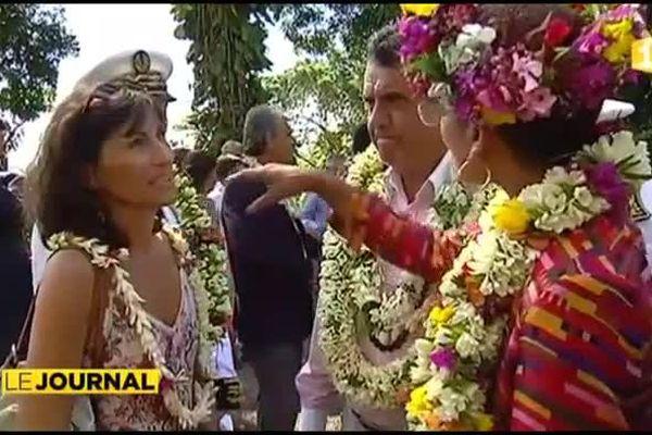 La ministre des outremers visite le plus gros chantier de Polynésie