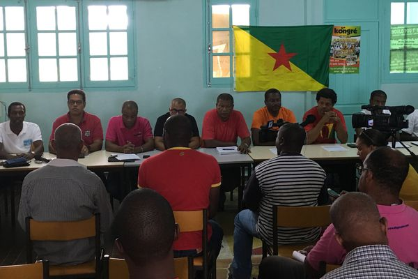 Conférence de presse Organisations syndicales Guadeloupe - Mouvement Guyane