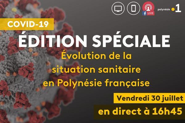 DIRECT. Point de situation sur l'évolution sanitaire en Polynésie française, le 30 juillet 2021