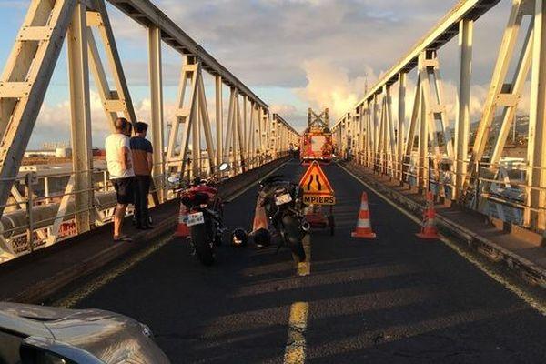 Accident pont de la Rivière des galets 290918