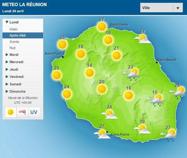 Carte météo 24 avril 2017