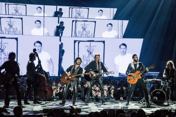 Johnny Hallyday en concert à Tahiti ! 1