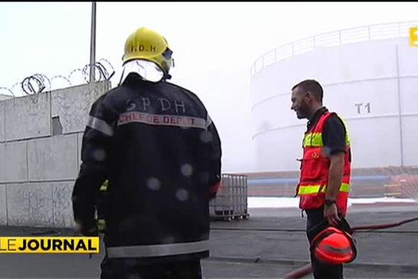 Exercice de sécurité sur la digue Est du port autonome