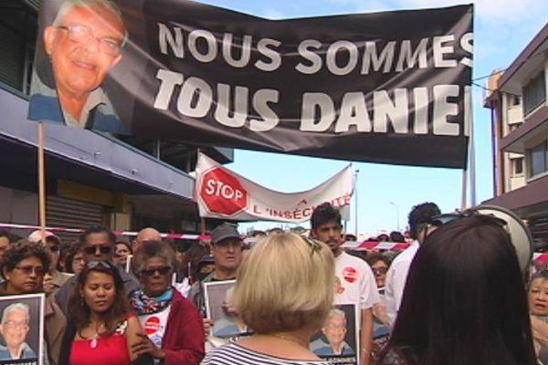 Marche blanche août 2015 photos et banderole avec Daniel Monteiro