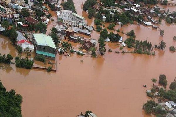 Inondation dans le nord de Madagascar janvier 2020