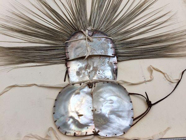 Masque du costume de deuilleur du British Museum