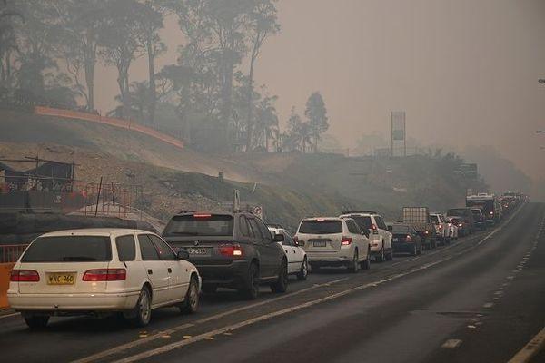 Australiens fuient les incendies