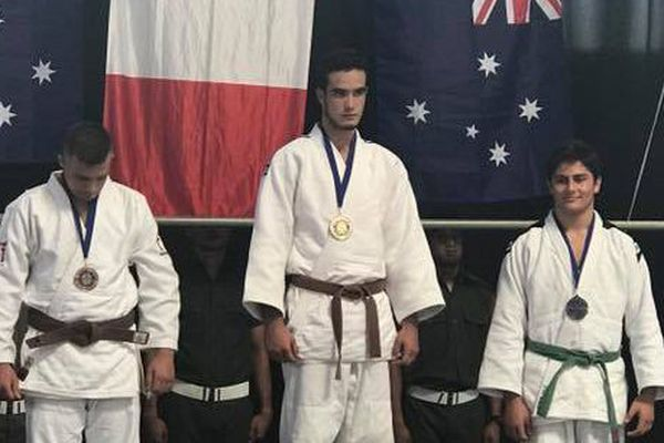 Photo podium judo oceanias avril 2017