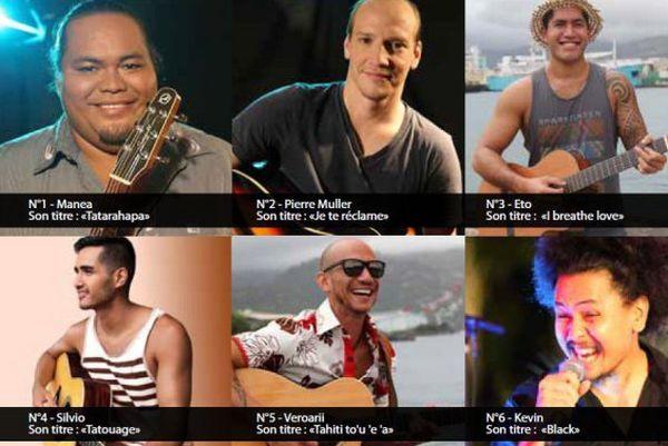 Les 6 candidats  du Guitare Club Le Concours 2017