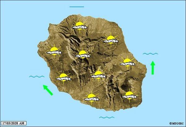 Carte météo 17 mars 2020
