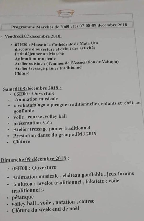 programme marché de noel wallis 2018