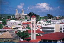 Saint John's, capitale d'Antigua-et-Barbuda.