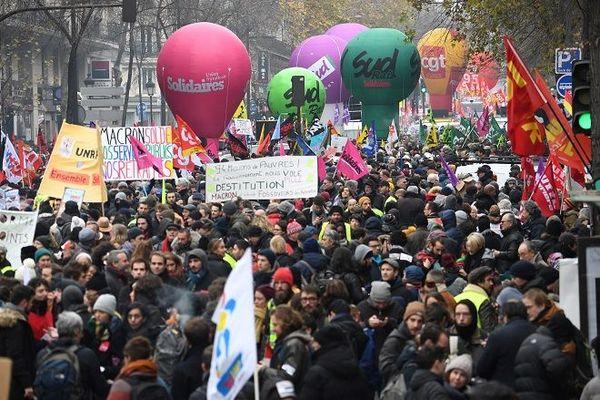 Grève 5 décembre manifestation Paris