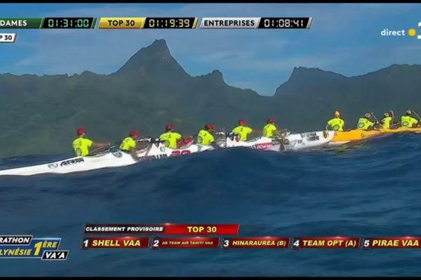 Marathon Polynésie la 1ère Va'a :