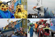 Olaf, l'ami de la reine des neiges était le roi du carnaval (en haut à droite).