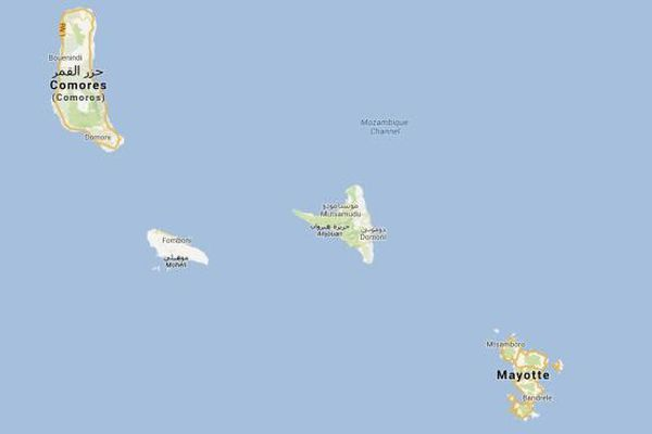 Carte Comores