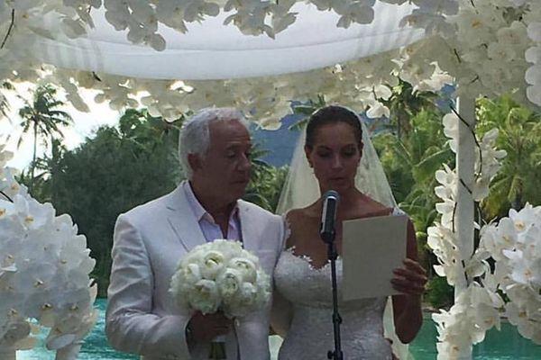 Paul Marciano et Mareva Georges se sont dit oui !