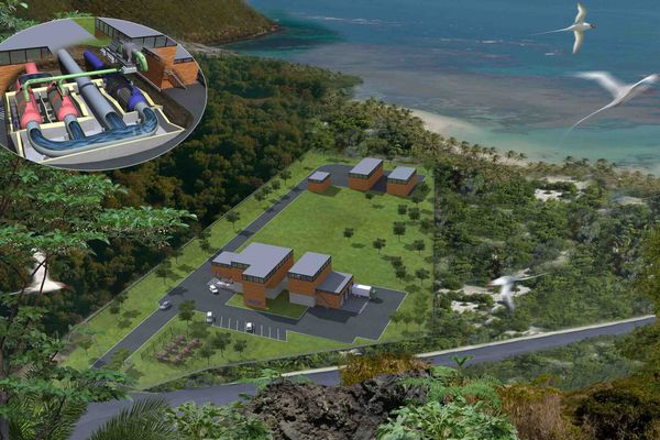 Nautilus, la centrale d'énergie thermique des mers de Bellefontaine (Martinique) qui doit entrer en service courant 2017