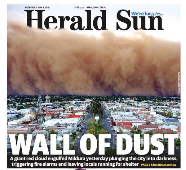 Tempête Australie Herald Sun