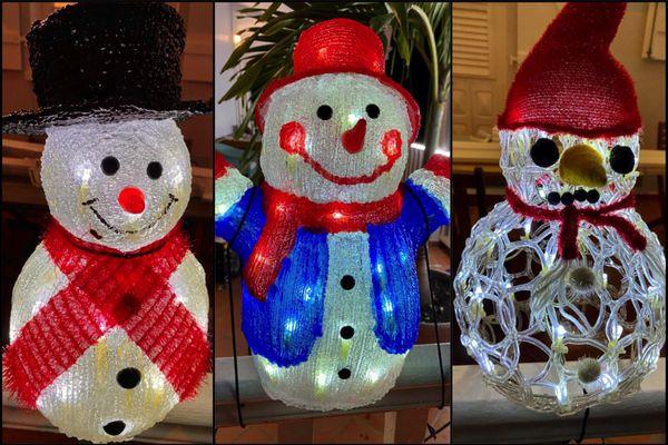 Montage décorations Noël bonshommes de neige
