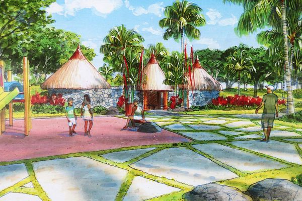 le parc paysager de Vaitupa prend forme