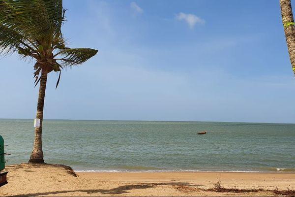 Le bord de mer de Yalimapo
