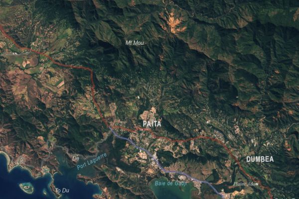 Carte Mont-Mou Païta