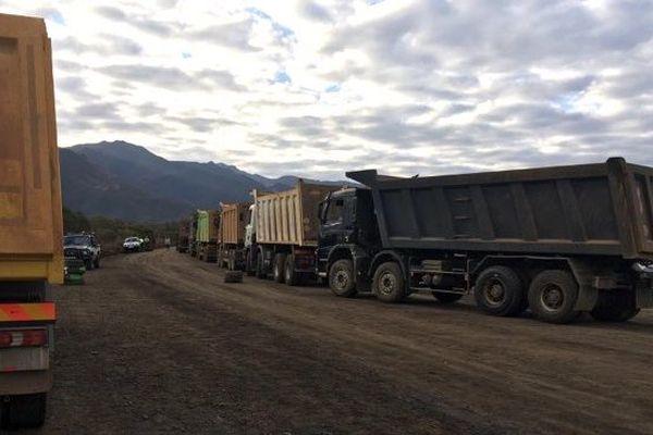 Piquet de grève mine de Karembé et Etoile du Nord (18 août 2017)