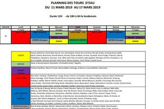 calendrier des tours d'eau