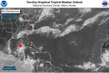 La position de l'ouragan Laura mardi midi 25 août 2020.