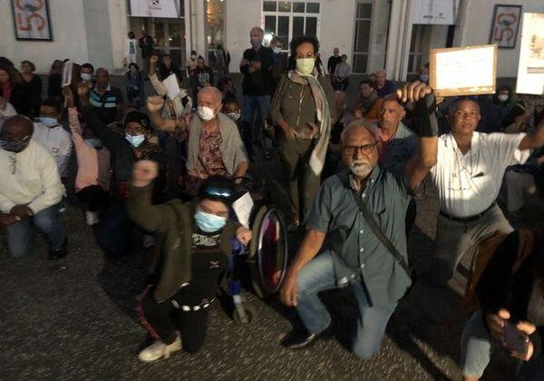 violences policières hommage à George Floyd parvis des Droits de l'Homme à Saint-Denis 090620