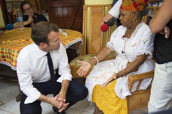 Emmanuel Macron aux Grands Fonds en Guadeloupe