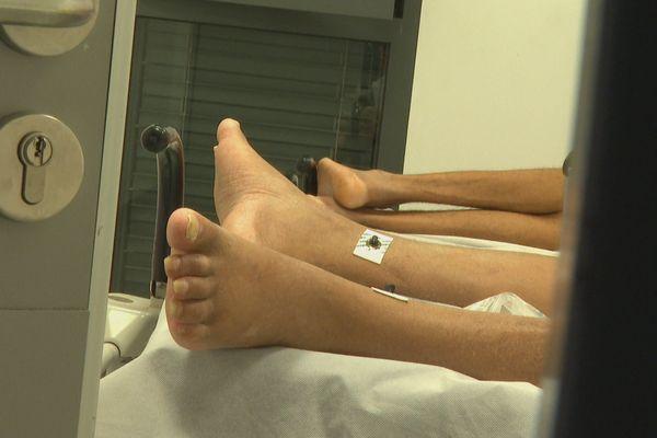 Malades à l'hôpital