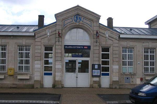 La gare SNCF de Villers-Cotterêts, Aisne.