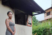 Une des habitantes du logement incendié