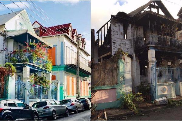 Maison Forier Pointe-à-Pitre détruite par incendie