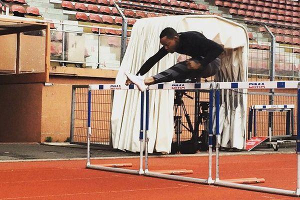 Dimitri Bascou à l'entraînement