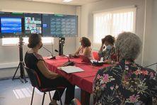Rentrée des professeurs adaptée à la crise sanitaire en Martinique.(lycée Schoelcher, 8 septembre 2021).