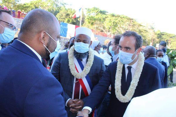 Visite poste police municipale Tsararano visite ministérielle Darmanin Lecornu