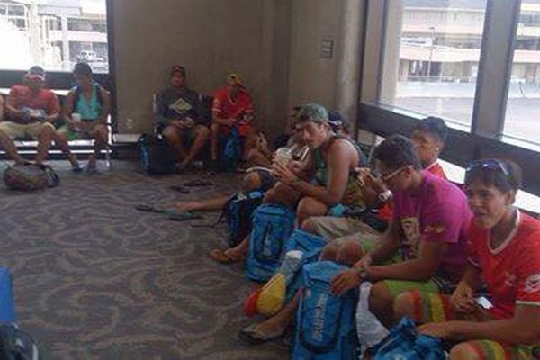 Equipe Shell Vaa à l'aéroport de Honolulu