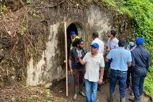 Les élus communautaires visitent la source Morestin au Morne Rouge (18 février 2021).