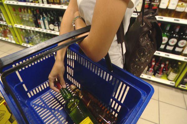 Alcool supermarché