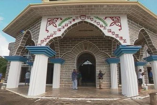 travaux à  l'église de Vaitupu