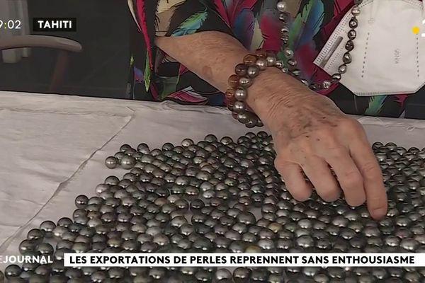 Hausse des exportations de perles en trompe l'œil