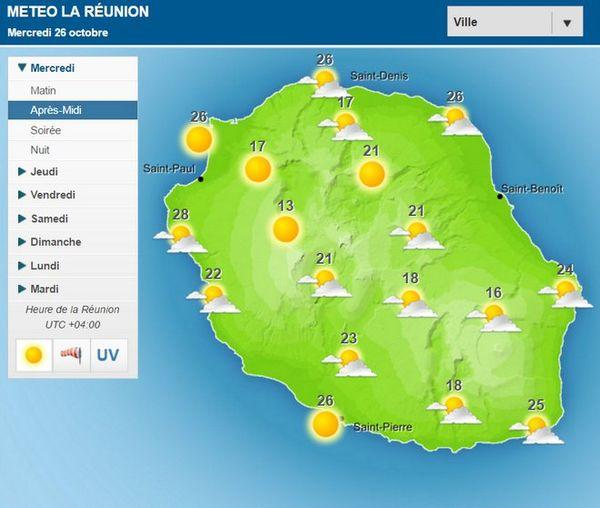 Carte météo du 26 Oct 2016