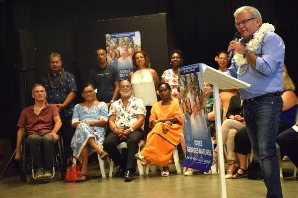 Municipales 2020 : meeting de cloture de Georges Naturel, 12 mars 2020