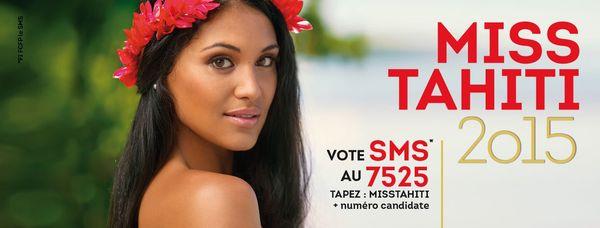 bandeau facebook votre sms miss Tahiti