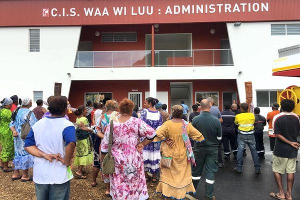 Inauguration du centre de secours, CIS, caserne, de Houaïlou, 28 février 2020