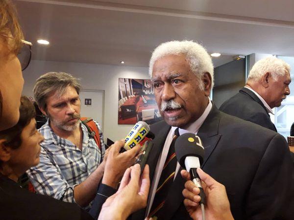 Roch Wamytan interviewé après l'élection.